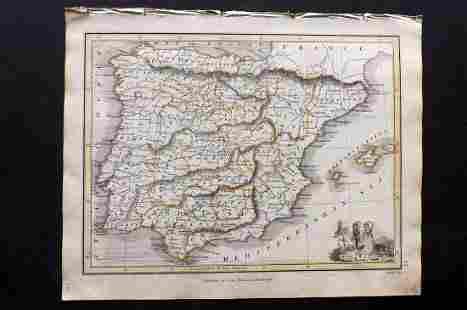 Thomson, John (Pub) 1825 Map. Spain
