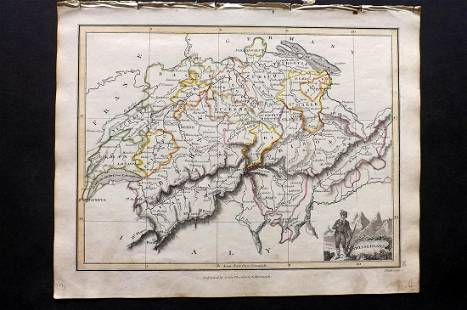 Thomson, John (Pub) 1825 Map. Switzerland