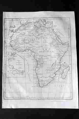 Wilkes, John 1796 Map. Modern Africa