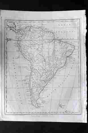 Wilkes, John 1796 Map. South America