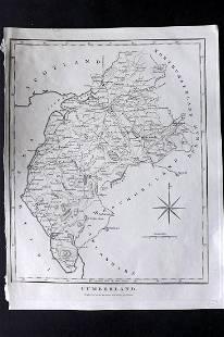 Wilkes, John 1802 Map. Cumberland