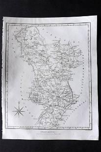 Wilkes, John 1802 Map. Derbyshire