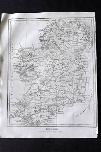 Wilkes, John 1811 Map. Ireland