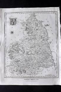 Wilkes, John C1800 Map. Northumberland