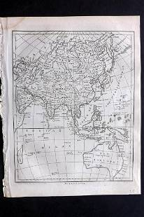 Wilkes, John C1815 Map. Modern Asia