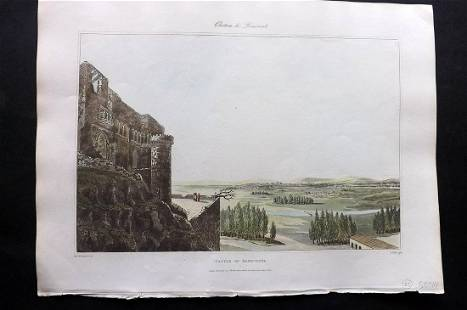 Bradford, William 1809 HC Print. Benevente, Spain