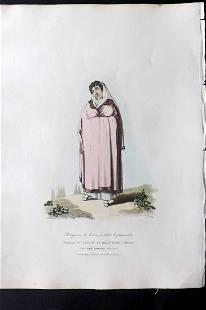 Bradford, William 1809 HC Print. Female of Lisbon