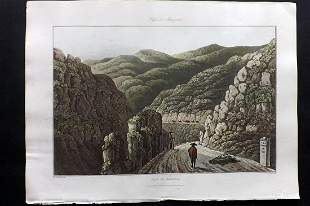 Bradford, William 1809 HC Print. Manzanal, Spain