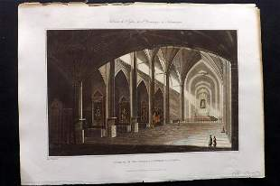 Bradford, William 1809 HC Print. Salamanca, Spain