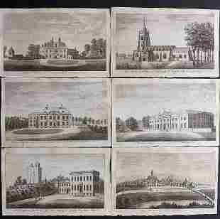 UK 1777 Lot of 6 Copper Engraved Views