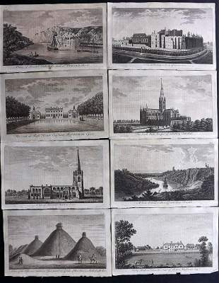 UK 1777 Lot of 8 Copper Engraved Views