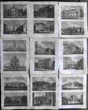 Wilkes, John 1814 Lot of 9 Antique Prints. London