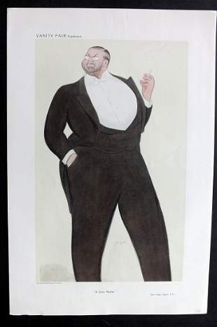 Vanity Fair Print 1909 John Singer Sargent. Beerbohm