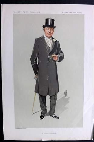 Vanity Fair Print 1912 The Earl of Lonsdale, Turf