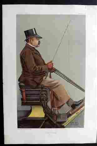 Vanity Fair Print 1903 Baron Deichmann, Carriage