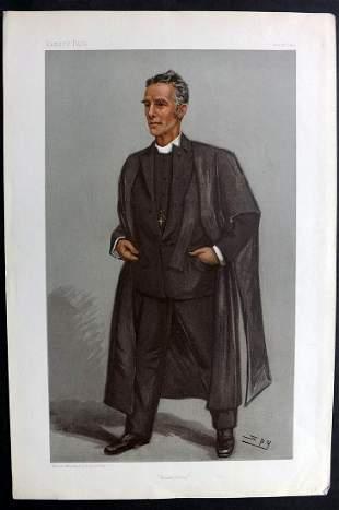 Vanity Fair Print 1901 Canon Edward Lyttelton, Clergy