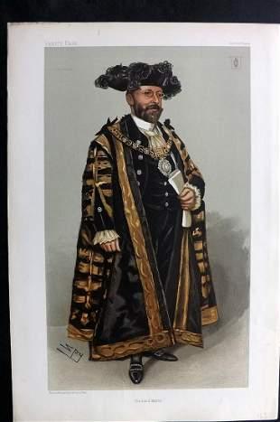 Vanity Fair Print 1902 Joseph C. Dimsdale, Lord Mayor