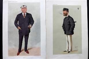 Vanity Fair Print 1874-1909 Pair of Yachting Prints