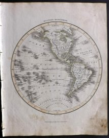 Thomson, John (Pub) 1825 Map. Western Hemisphere