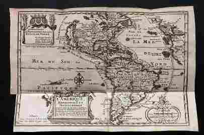 de Fer, Nicolas 1717 Map. America. California as Island