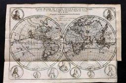 de Fer, Nicolas 1717 World Map. California as Island