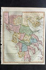 Wilkes, John C1810 HCol Map. Graeciae Antiqua Greece