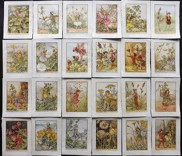 Barker, Cicely Mary C1940 Lot of 24 Flower-Fairy Prints