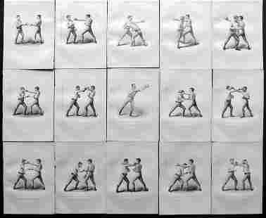 Boxing 1890 Lot of 15 Prints. Badminton Library