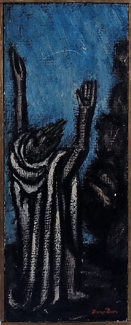 Ben-Zion Weinman Oil Painting of Standing Prophet - 2