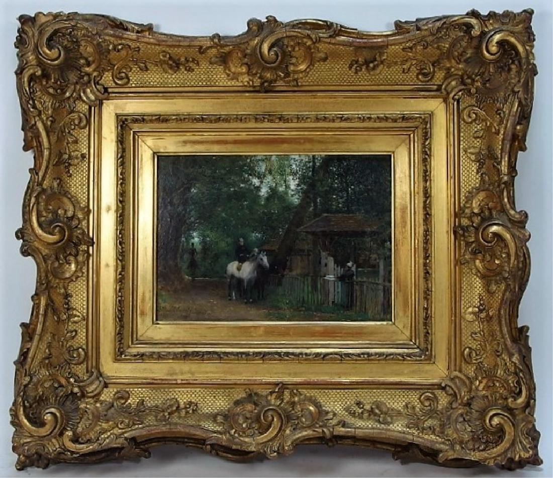 Jean Max Claude Impressionist Equestrian Painting