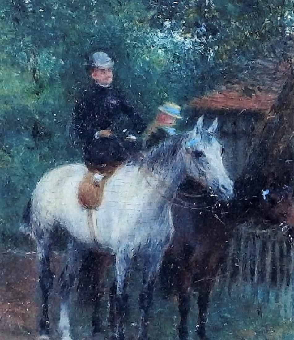 Jean Max Claude Impressionist Equestrian Painting - 2