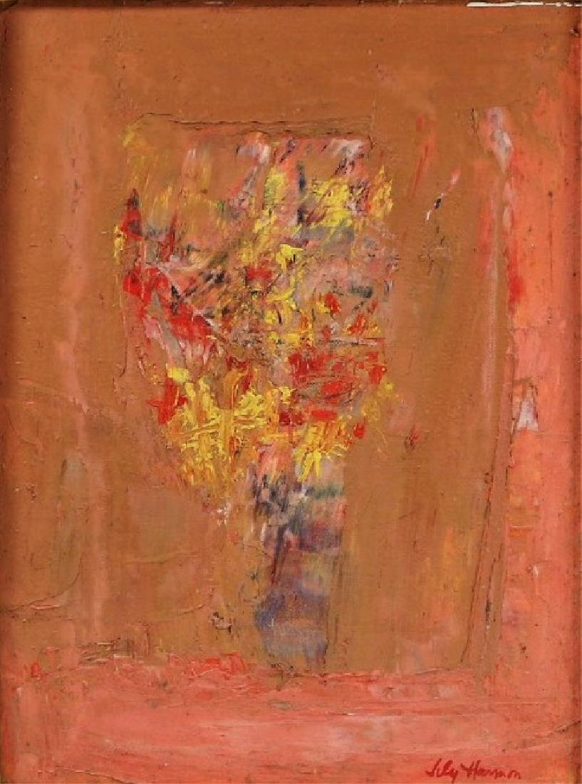 Lily Harmon Abstract Still Life Oil Painting