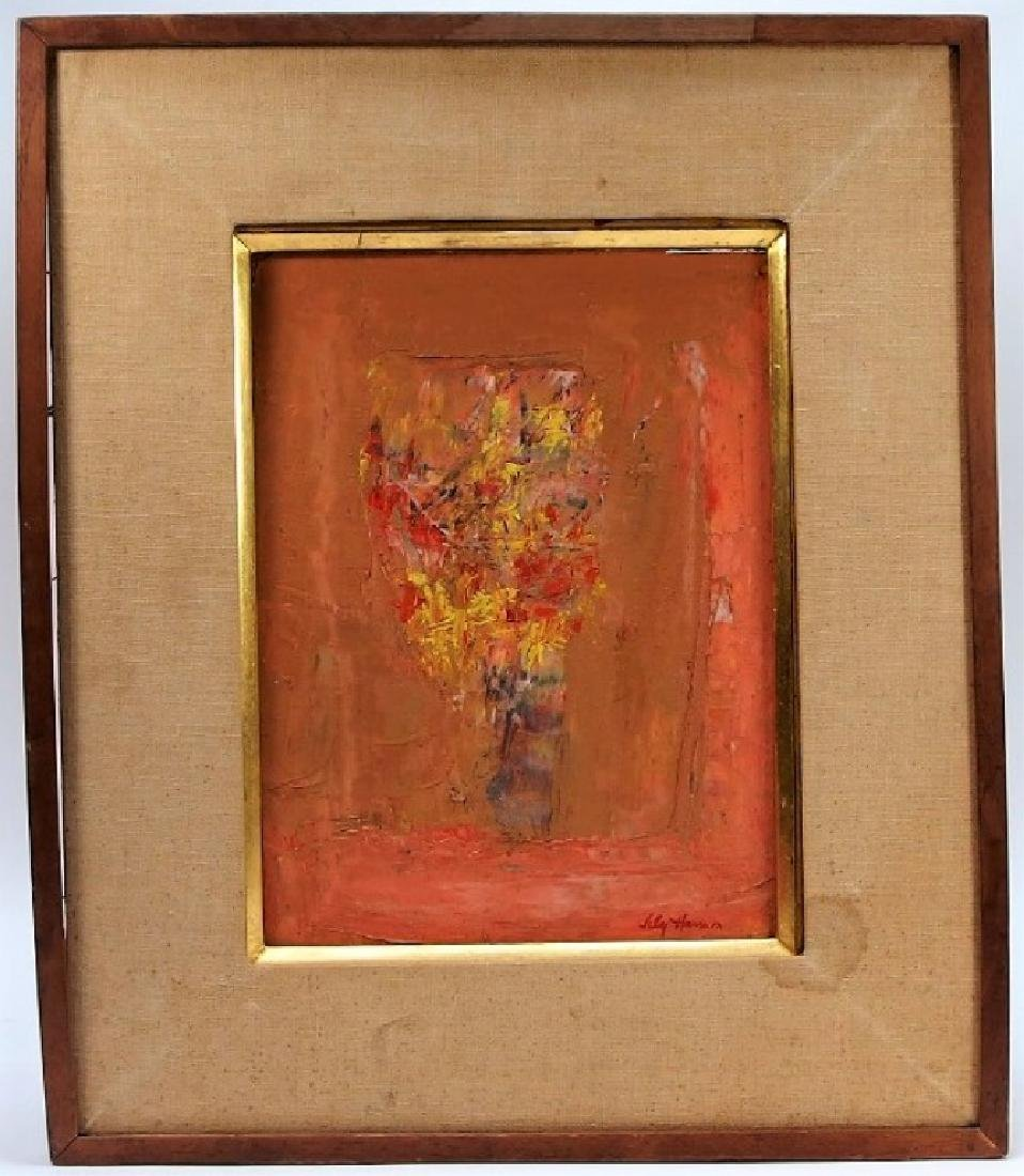 Lily Harmon Abstract Still Life Oil Painting - 2