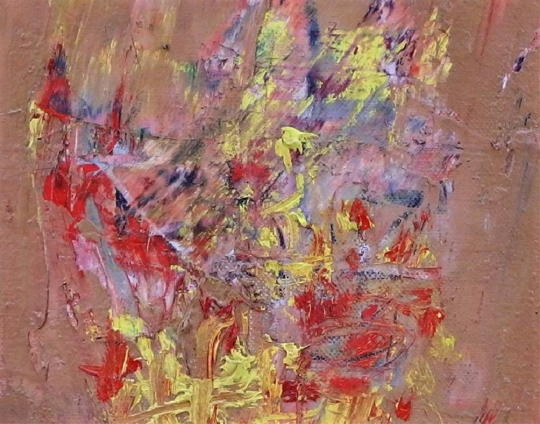 Lily Harmon Abstract Still Life Oil Painting - 3