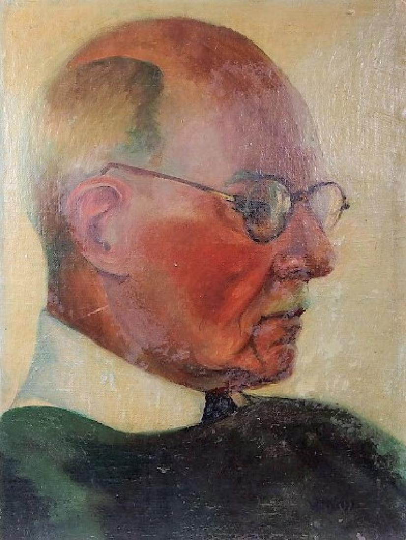 Attrib. Wojciech Weiss Portrait Painting of Man