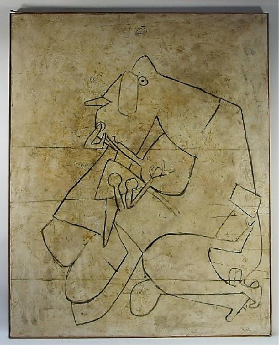 Lidi Tade Modernist Abstract Mixed Media Painting