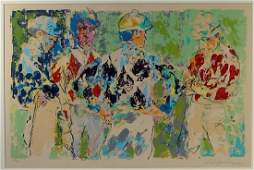 LeRoy Neiman Four Jockeys Limited Ed. Serigraph