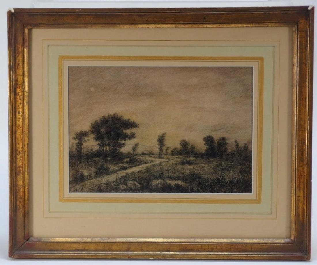 Arthur Ward Landscape Painting w/ Charcoal Drawing - 4