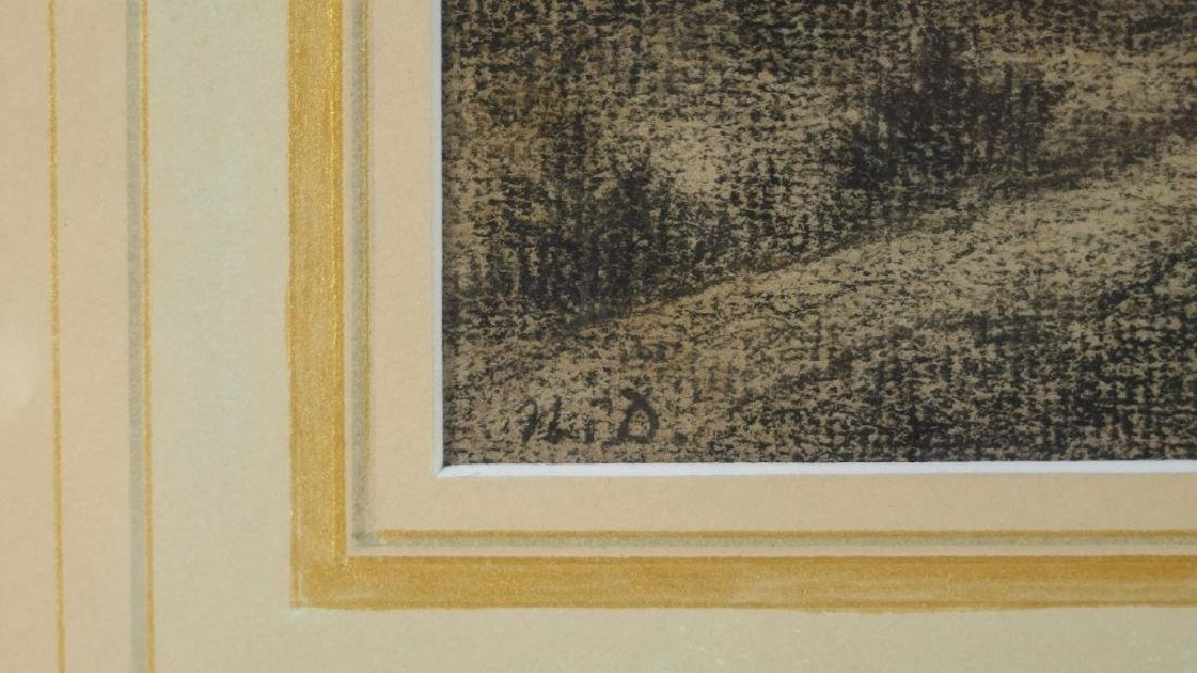 Arthur Ward Landscape Painting w/ Charcoal Drawing - 6