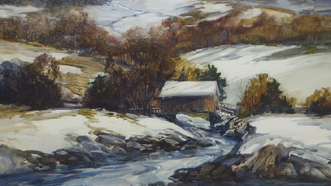 Nathalie Nordstrand Vermont Winter WC Painting - 3