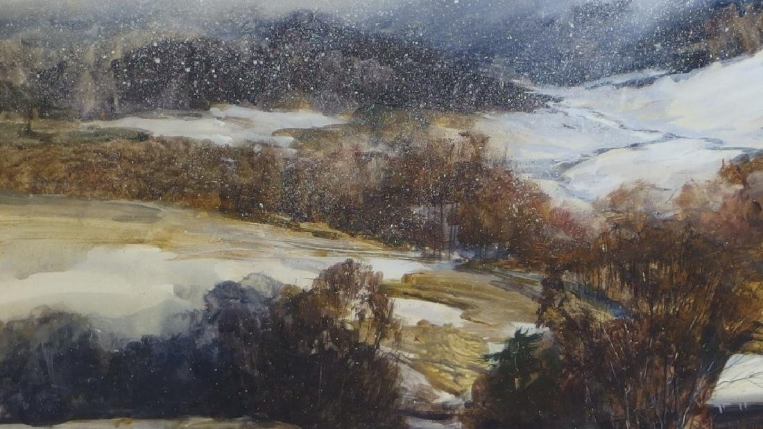 Nathalie Nordstrand Vermont Winter WC Painting - 4