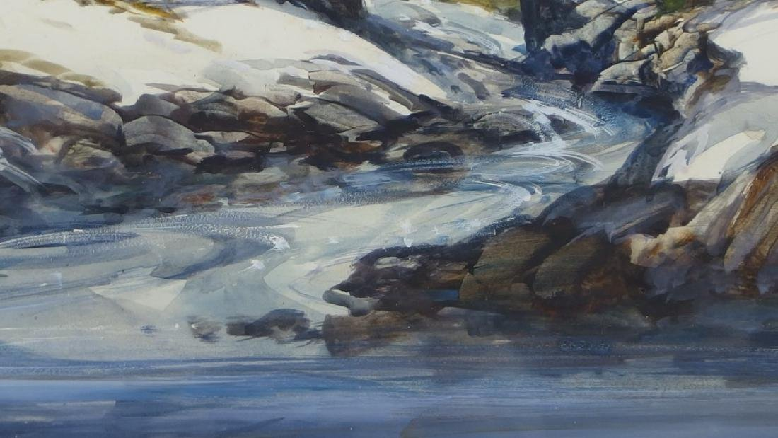 Nathalie Nordstrand Vermont Winter WC Painting - 5