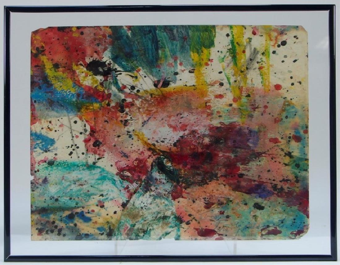Taro Yamamoto WC & Oil Splatter Painting