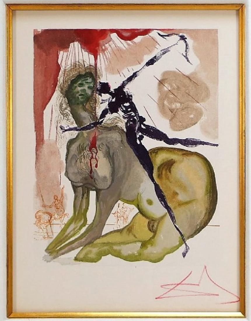 Salvador Dali Canto The Minotaur Woodcut Print
