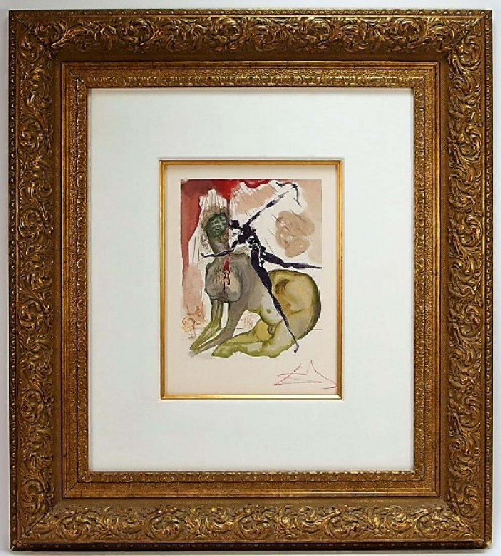 Salvador Dali Canto The Minotaur Woodcut Print - 2