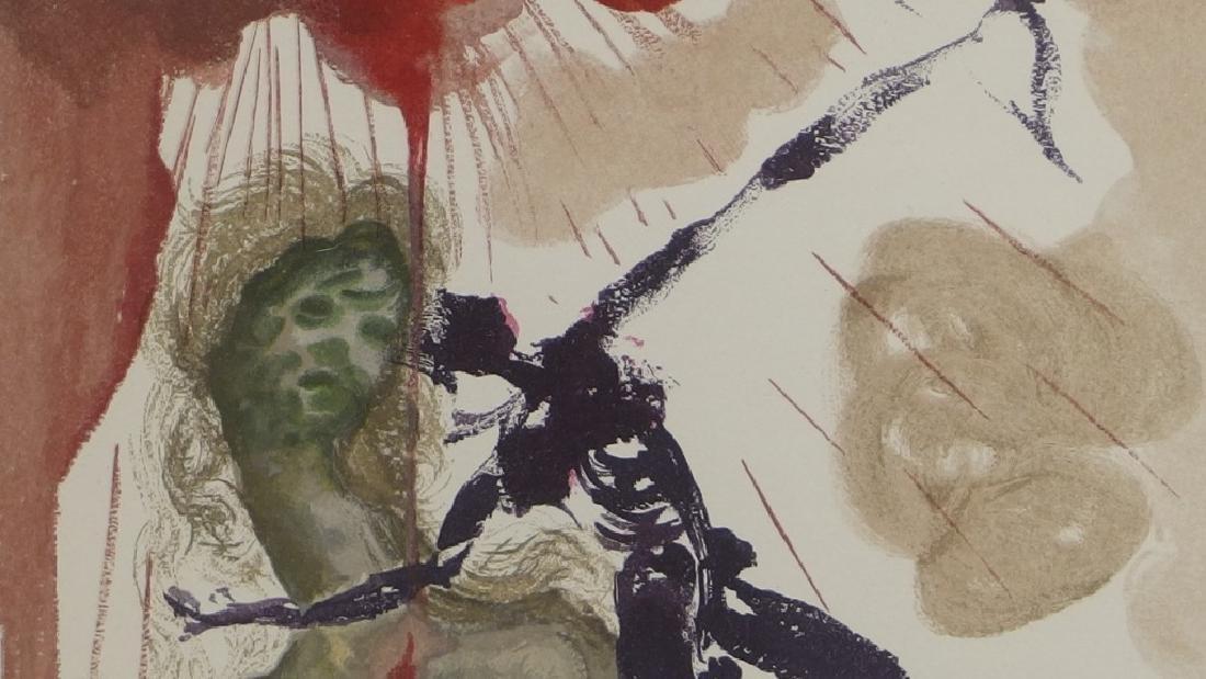 Salvador Dali Canto The Minotaur Woodcut Print - 3