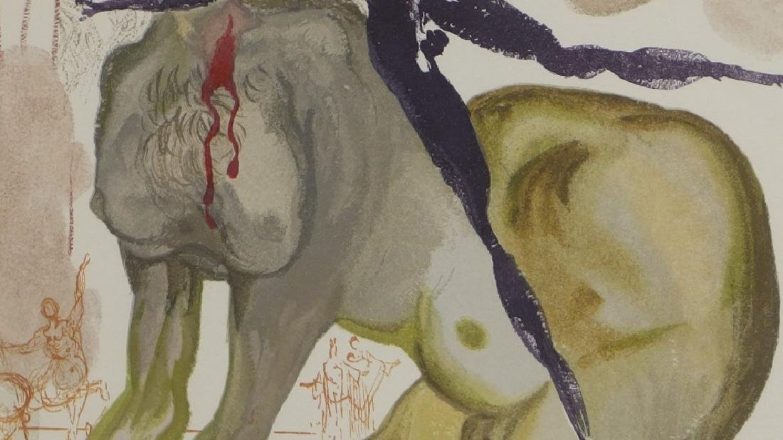 Salvador Dali Canto The Minotaur Woodcut Print - 4