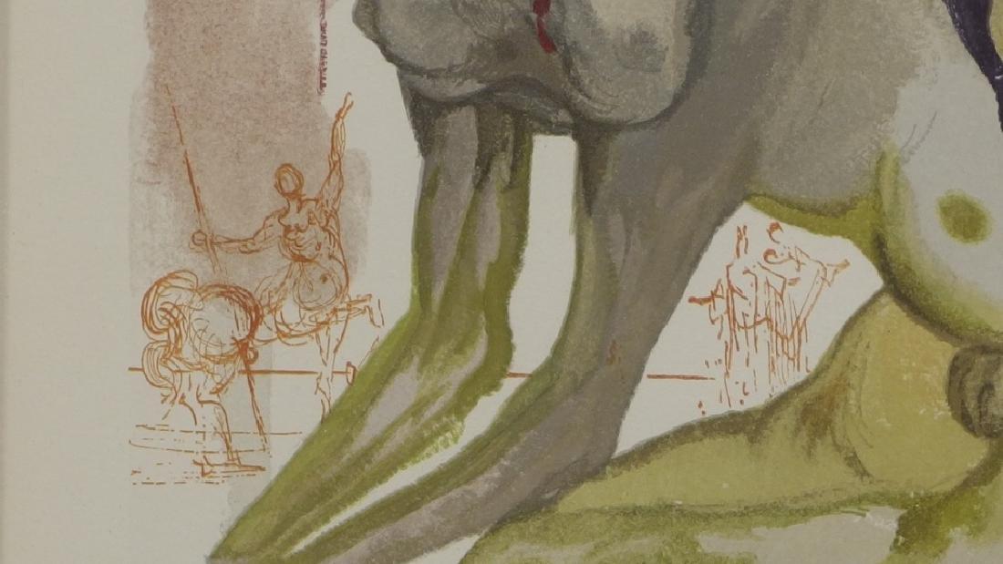 Salvador Dali Canto The Minotaur Woodcut Print - 5