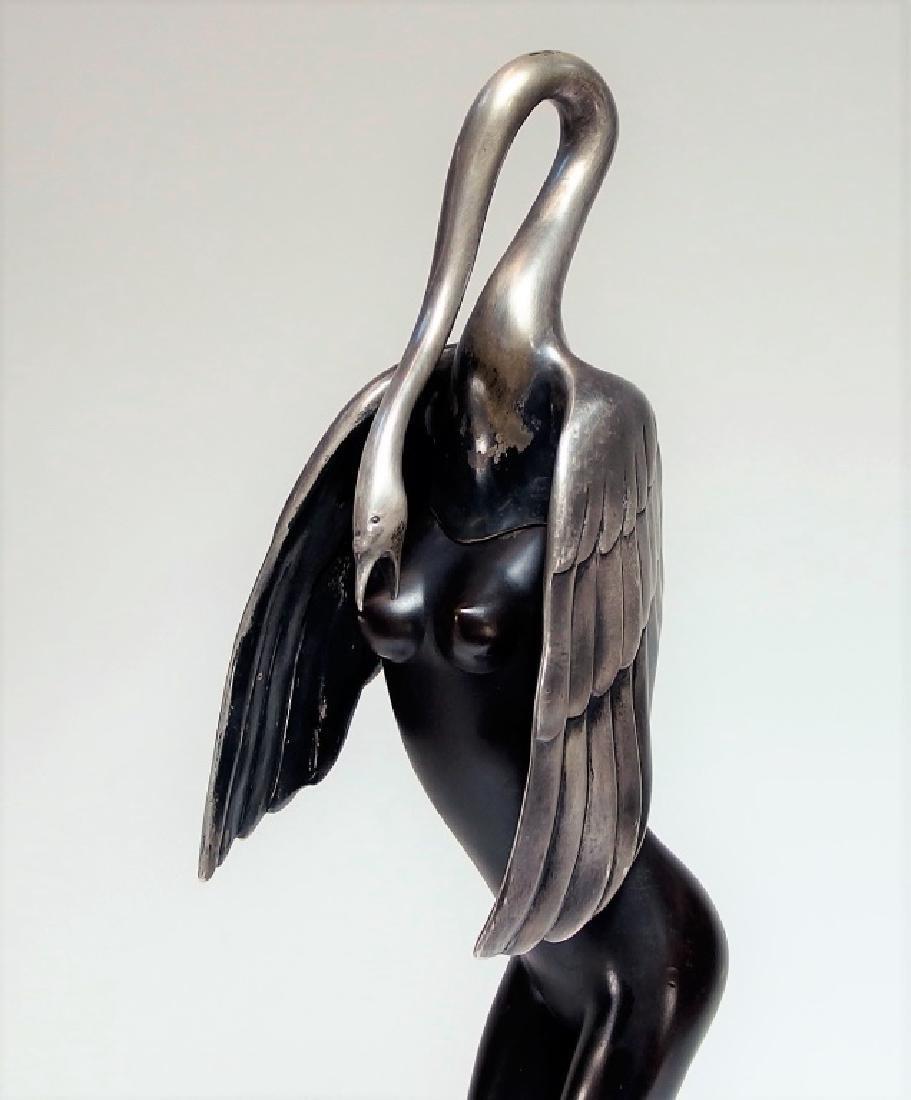 Bruno Bruni Leda Col Cigno Bronze Sculpture - 2