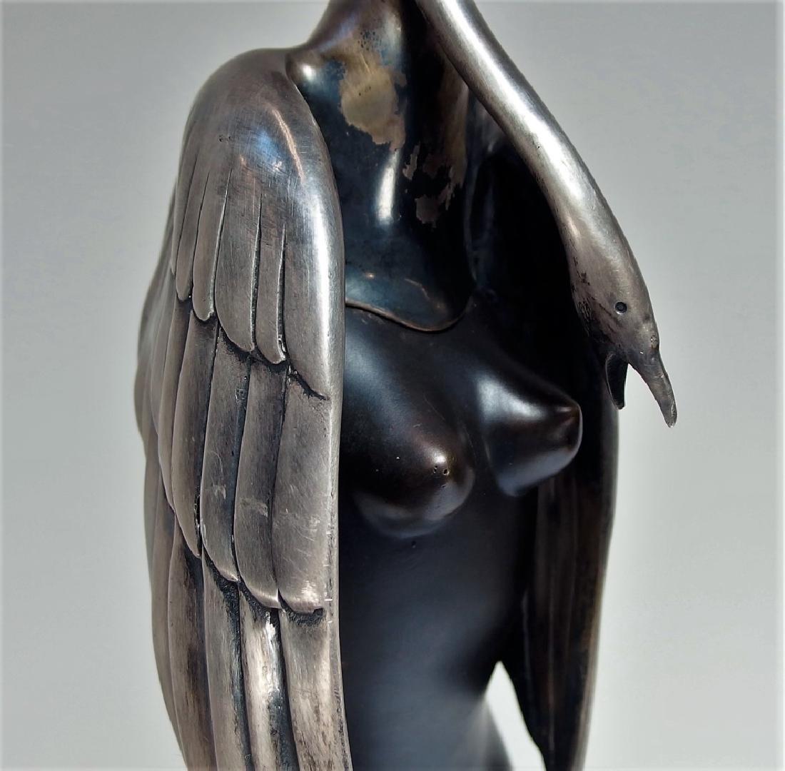 Bruno Bruni Leda Col Cigno Bronze Sculpture - 3